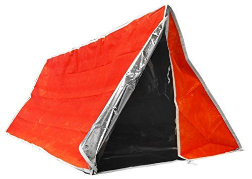 SE ET3683 Emergency Outdoor Tube Tent with Steel Tent Pegs. For product info go to:  https://all4hiking.com/products/se-et3683-emergency-outdoor-tube-tent-with-steel-tent-pegs/