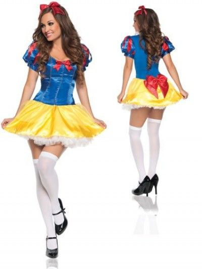 Sexy Snow White costume for Halloween and parties, the seven dwarfs would follow her anywhere!