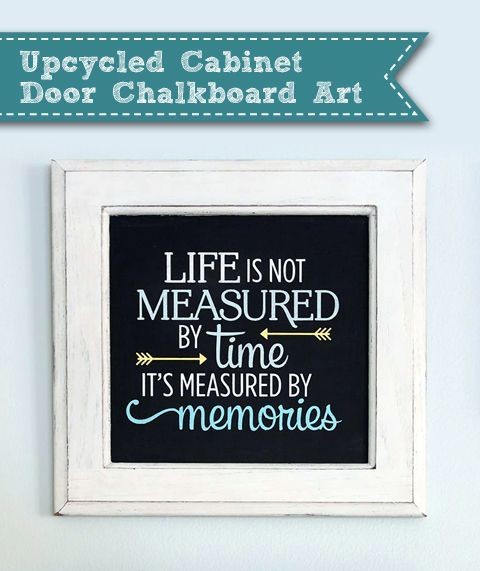Upcycled Cabinet Door Quote Art Pretty Handy Girl Diy Howto