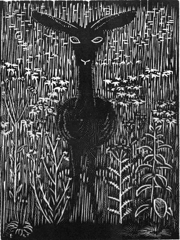 ✽   'like a roe'  -   wharton esherick -  1927  -  woodcut
