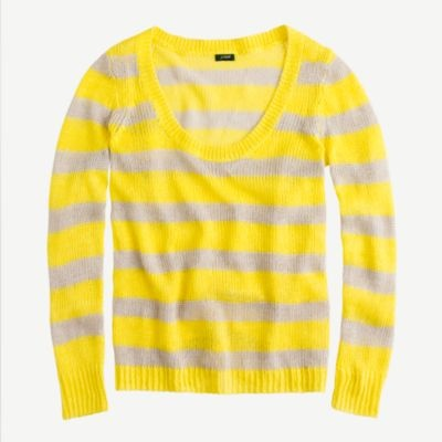 stripe linen sweater / j.crew