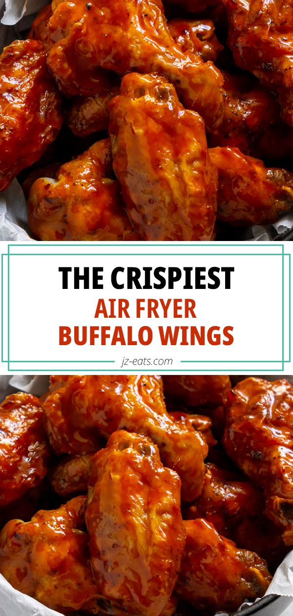 crispy air fryer buffalo wings plus an easy hot honey buffalo sauce recipe with only three ingred in 2020 multi cooker recipes air fryer chicken wings harvest recipes pinterest