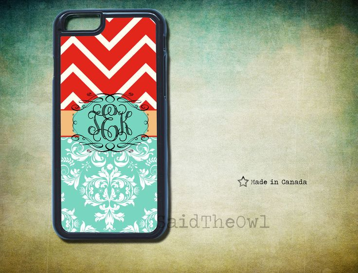 Red Chevron Pattern, Damask -  iPhone 5s case, monogram iPhone 6/6 Plus/4/4s/5/5s/5c- cute phone case- samsung s5- monogrammed phone case by SaidTheOwl on Etsy