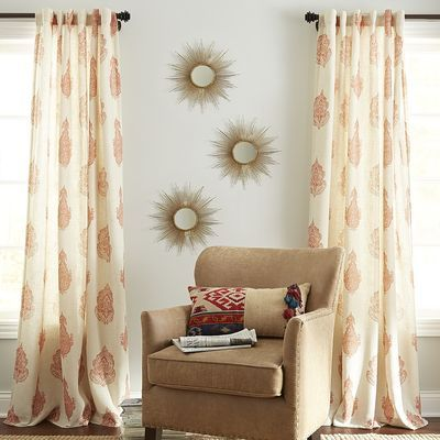 Pier 1 Rambagh Paisley Curtain - Clay - $35.96