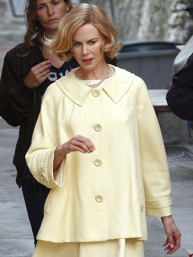 Custom Make Iconic Cinema Jewelry on Morpheus! www.morphe.us.com/  Nicole Kidman on set of Grace of Monaco on Tuesday