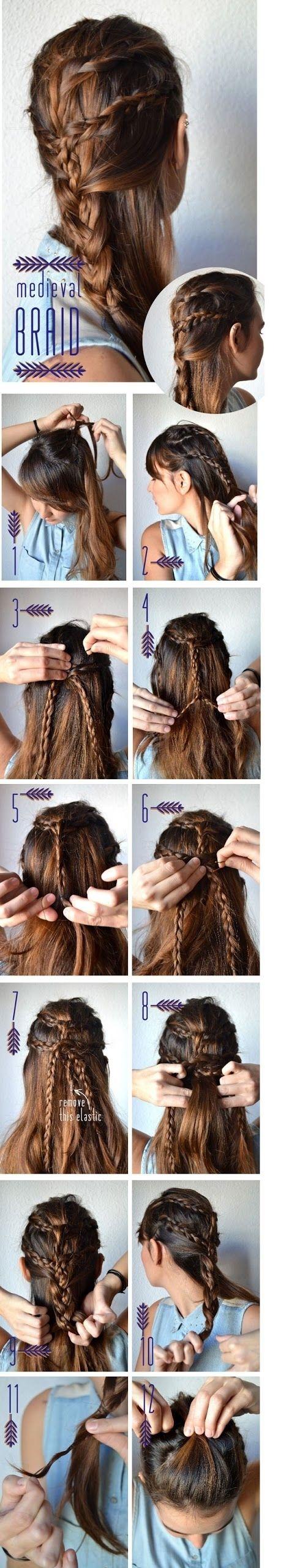 Medieval Braid penteado passo a passo