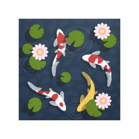 Best 25 japanese koi ideas on pinterest japanese tattoo for Koi prints canvas