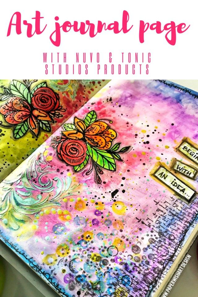 Art journal page for beginners – easy mixed media art journalling