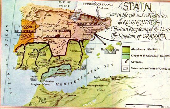 """The Iberian Peninsula in the 14th century from """"Europe in 1300"""""""