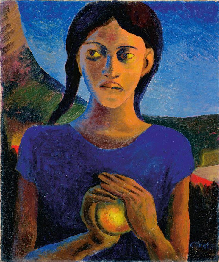'Girl with Orange', 1943 - Gerard Sekoto