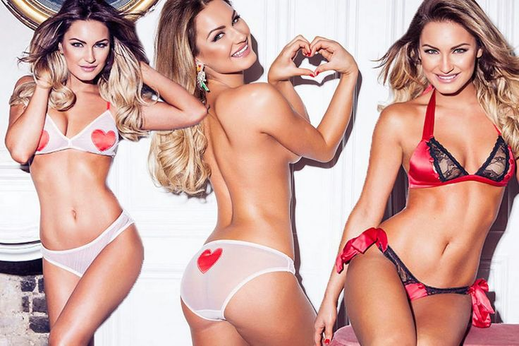 Omg The Real things: Sam Faiers poses topless in sexy lingerie as she r...