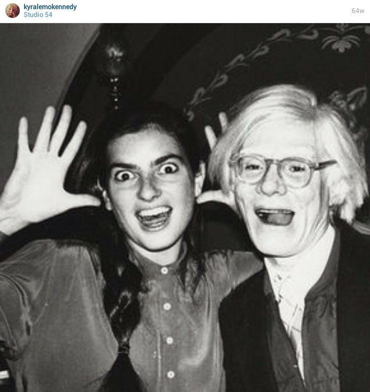 From Kyra Lemoyne Kennedy's Instagram - Mommy (Mary Lemoyne Kennedy) and Andy (Warhol) being as kooky as ever!! Studio 54
