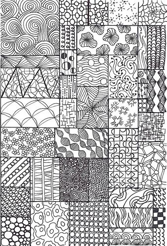 zentangle sampler | I made this one specifically for my juni… | Flickr