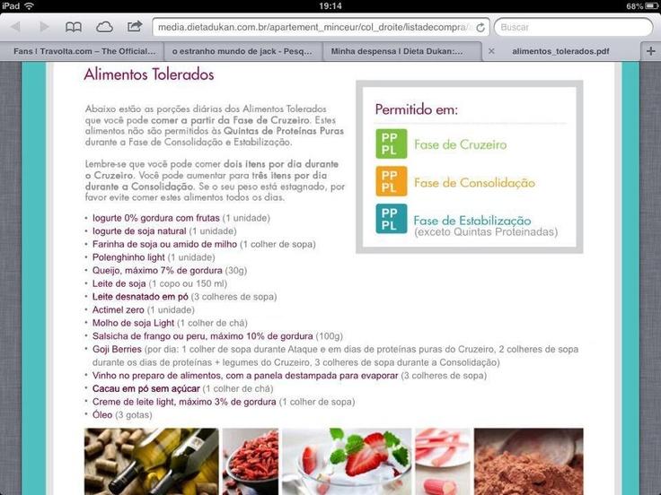 Dieta dukan alimentos tolerados dukan recipes pinterest - Alimentos permitidos dieta dukan ...