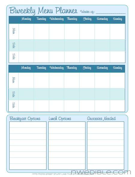 Biweekly Menu PlannerEating Cleaning, Bloglovin Mobiles, Free Download, Menu Plans, Menu Planners, Cleaning Meals, Edible Life, Biweekly Menu, Form Free