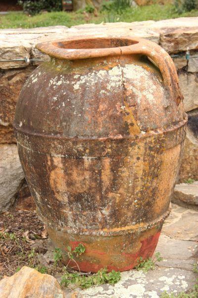 Italian Olive Oil Jar...Italian Antique...but Keep Inside In. Garden RidgeUrnOlive  ...