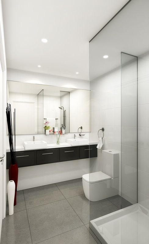 3D Bathroom Render for a development project - Bayswater Vic