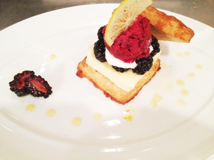 Lemon blackberry shortcake: lemon gelato, blackberry elderflower ...