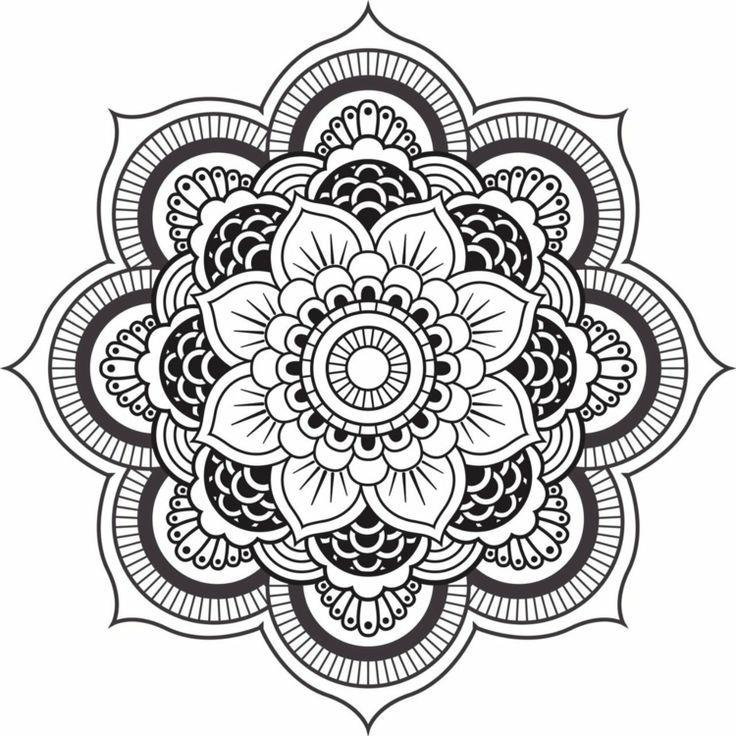 Vorlage Mit Blumenmotiv Mandala Vorlagen Einfaches Mandala Mandala Gemalde