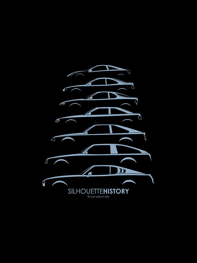 Toyota Celica Silhouettehistory Digital Art #ForTheDriven #Scion #Rvinyl =========================== http://www.rvinyl.com/Scion-Accessories.html