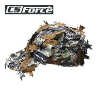 Outdoor Military Cap with Bionic Leaf Fast Dry Camo Hunting Snipper Hat Paintball Tactical CS Game Disguise Baseball Cap
