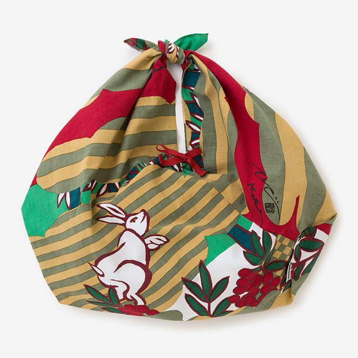 Furoshiki Bag Ise Cotton Bunnies and Nandin : SOU • SOU US Online Store