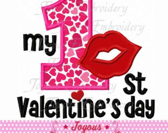 instant download my 1stfirst valentines day applique embroidery design no1667