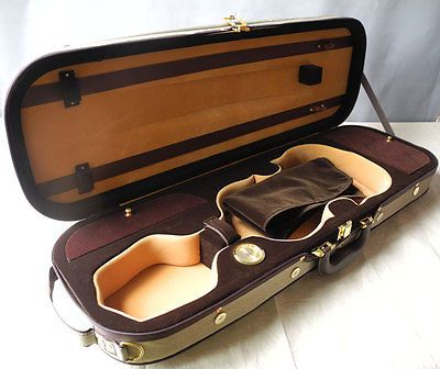 High grade rectangle oblong violin case 4/4, with Hygrometer strong - http://musical-instruments.goshoppins.com/musical-equipment/high-grade-rectangle-oblong-violin-case-44-with-hygrometer-strong/