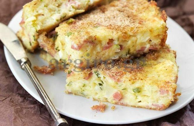 Ζαμπονοτυρόπιτα με λαχανικά από την Αργυρώ!