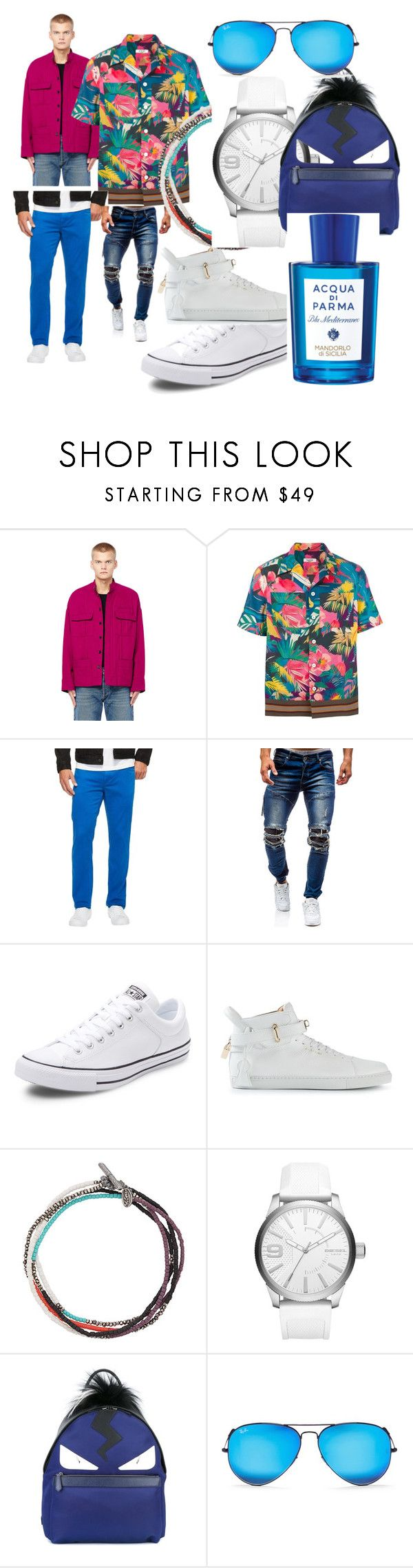 """""""#end#of#the#season#"""" by hannazakaria ❤ liked on Polyvore featuring Haider Ackermann, Valentino, Robert Graham, Converse, BUSCEMI, M. Cohen, Diesel, Fendi, Ray-Ban and Acqua di Parma"""