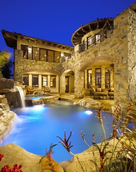 maybe my log cabin will actually be a stone mansion in the mountains somewhere?