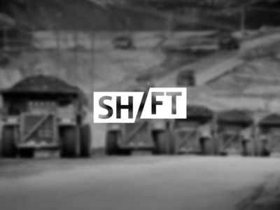 """typography portrays idea behind the word """"shift"""" with a cool concept.  image being out of focus allows the headline to be main focus at first glance"""