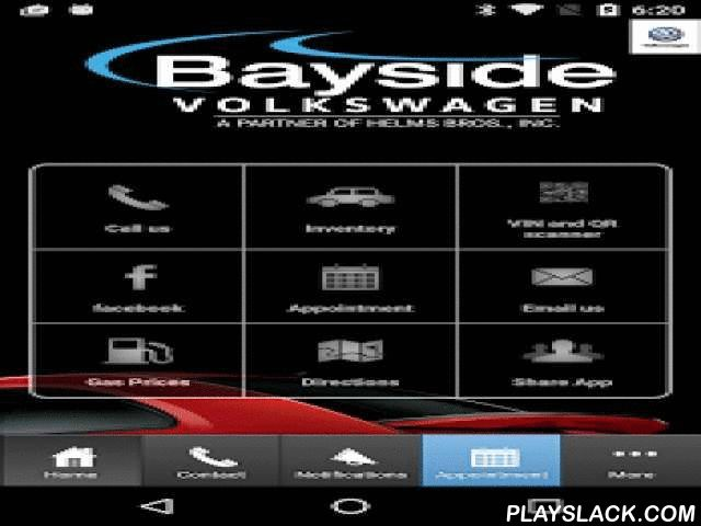 Bayside Volkswagen  Android App - playslack.com ,  Bayside Volkswagen's mobile app is perfect for every driver to stay current with all things related to your vehicle and our dealership. At Bayside VW, we value all of our customers, which is why we've put all the information you need at your fingertips. •Browse Our Inventory•Get a Price Quote•Schedule Service 24/7•Contact Us – Call or Email•Keep Track of Your Vehicle Information•View Our Specials•Connect With Us On Facebook•Follow Us on…
