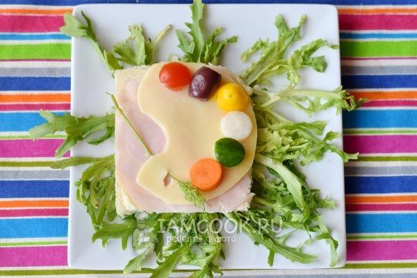 Рецепт детского бутерброда