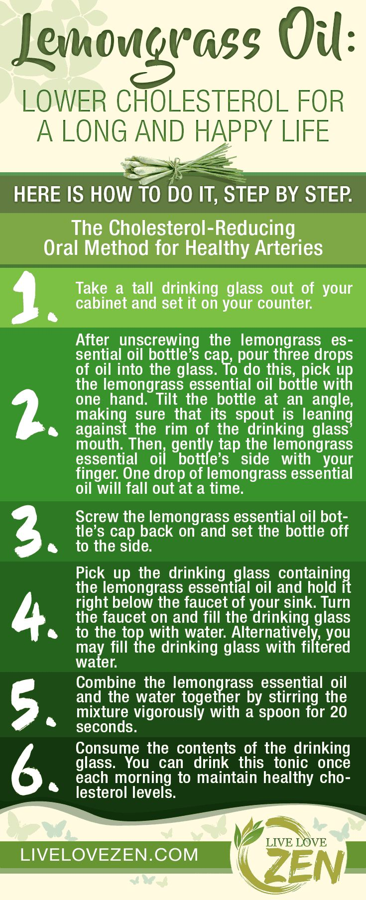 Lemongrass Oil: Lower Cholesterol for a Long and Happy Life