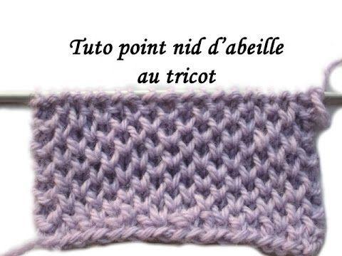 Les tutos de Fadinou: TUTO POINT NID D'ABEILLE AU TRICOT OU PETIT RAYON ...