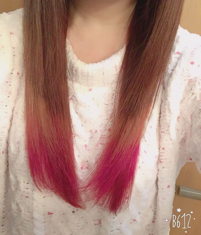 WEBSTA @ tarumon_s2 - グラデーションしてマニパニでピンク入れた(๑⃙⃘♥‿♥๑⃙⃘)♡♡♡#グラデーションカラー #マニパニ #ピンク大好き