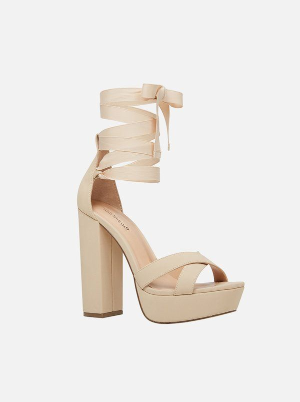 55825c5057c5 Call It Spring Frasiera Lace-up Heels Neutral