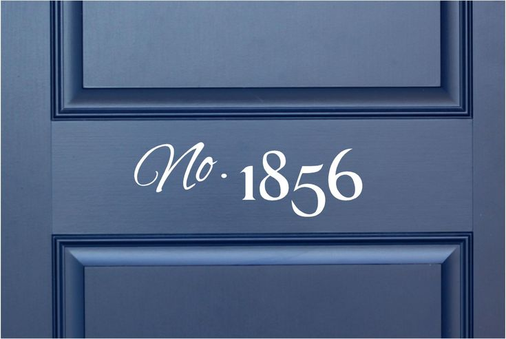 "House Number - Vinyl Lettering Word Door or Wall Art Home Decal - 15"" W x 5"" H. $6.00, via Etsy."