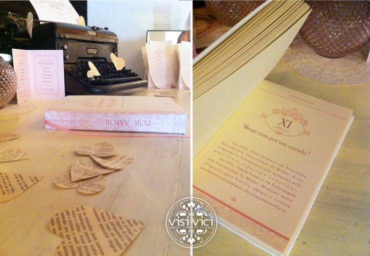 Livro de Honra || Love Story wedding messages table details by Visi Vici   www.visivici.com/