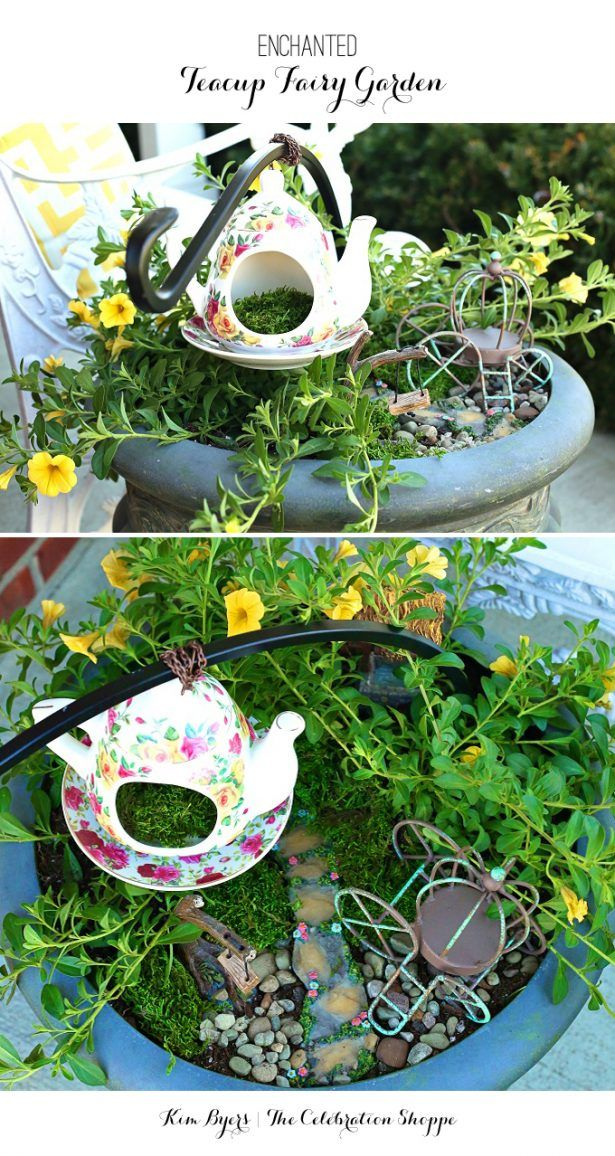 Create an enchanted fairy garden for your planter in minutes with these ideas from @kimbyers TheCelebrationShoppe.com