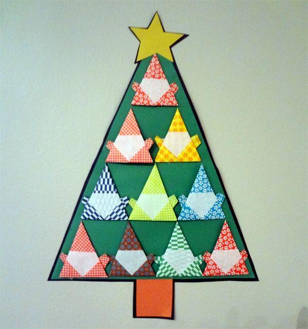 Origami Santa Ornament: 61 Best Origami En Papier Christmas Kerst Images On
