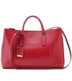 NEW 3 ZIP LEATHER TOTE