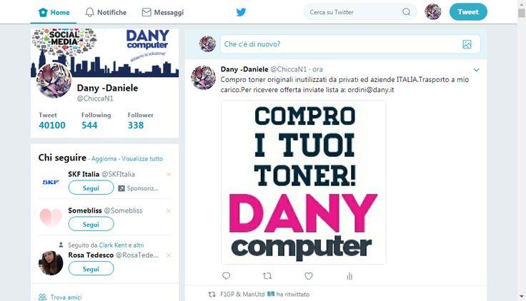 Compro toner originali inutilizzati sia da privati che da aziende TUTTA ITALIA . Trasporto a mio carico . Per ricevere offerta inviate lista a : ordini@dany.it