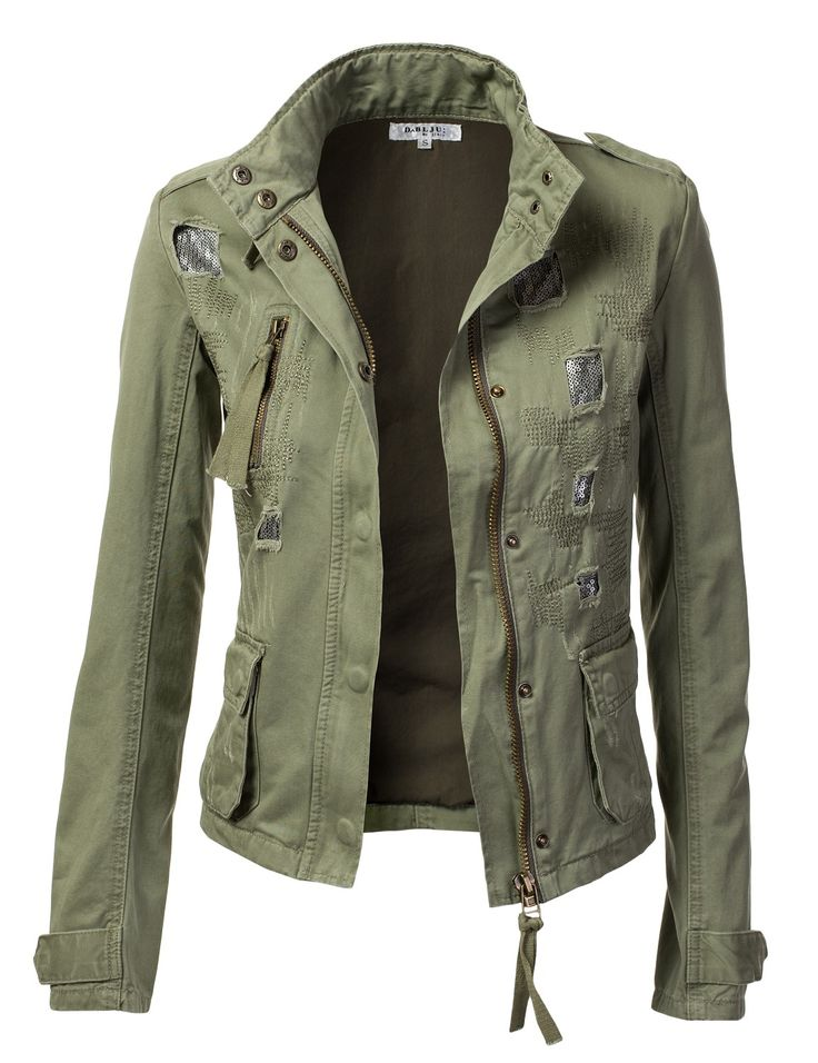 military jackets for women | ... - Freedom of Fashion - Womens Military Anorak Jacket With Pockets