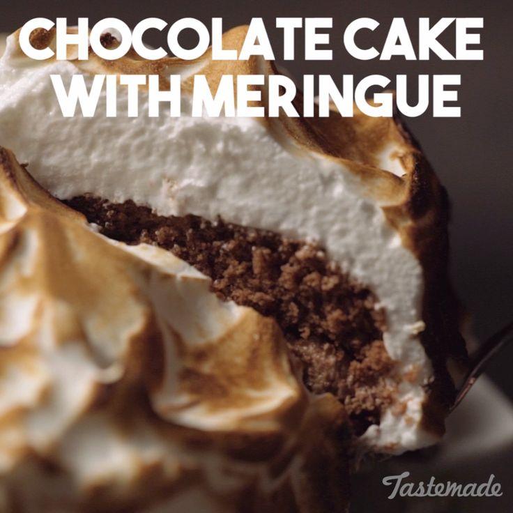 Chocolate Cake With Meringue recipe