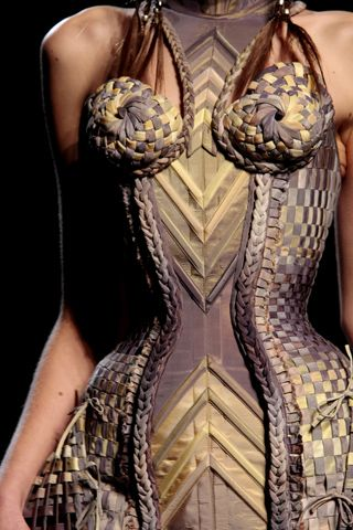 Braided Corset, Jean Paul Gautier Couture Jungle