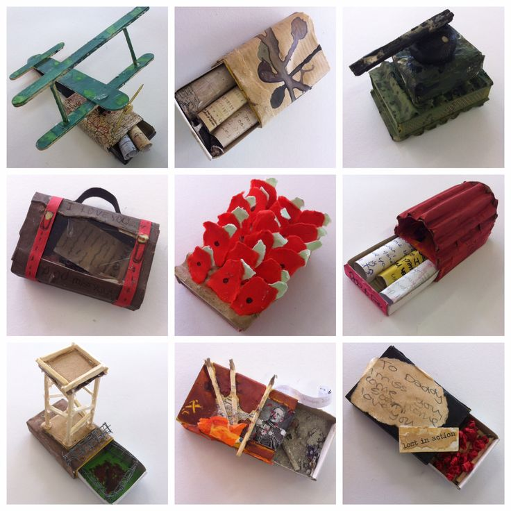 Matchbox responses to WW1 from Y8 at Norton College