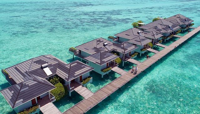 Over Water Villas At Sun Island Resort Spa Maldives