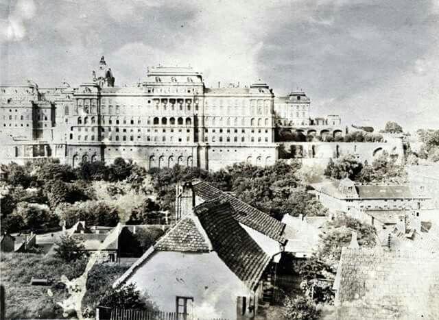 A királyi palota a Gellérthegy utca felöl nézve 1900 körül